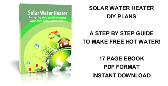 Solar water heater DIY plans