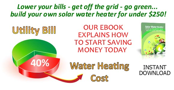 Cut your energy bill by up to 40% with a solar water heater